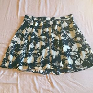 Gently used Bird Print Skirt from Old Navy